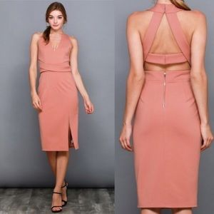 Dresses & Skirts - SIMONA MAUVE MIDI DRESS